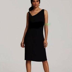Eileen Fisher Sheer Strap Silk Shift Dress M